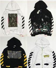 Wholesale Women Gray Jacket - New Hot Fashion Sale Brand Clothing Off White Men Hoodies Print Cotton Shirt Offwhite men Women jacket Hoodies 18 styles S-XL