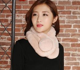 Wholesale Blue Rex Rabbit - Fur scarves female Korean version of autumn and winter fashion Variety Scarves Rex Rabbit hair three tube scarlet small gifts