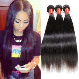 Wholesale Straight Human Hair 3pcs - Brazilian Shine Weave Beauty Virgin Hair Straight 3pcs lot 100% High Quality Unprocessed Human Hair