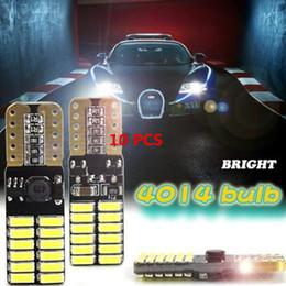 Wholesale auto tail lights - 10pcs Auto Car Side Turn Signal Light LED Bulbs Reading Tail Lamp 220Lm 4.8W T10 4014 24SMD LEDs CLT_03L