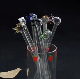 Wholesale Miniature Fish - Miniature small fish straw , Wholesale Glass bongs Oil Burner Glass Pipes Water Pipes Oil Rigs Smoking Free Shipping