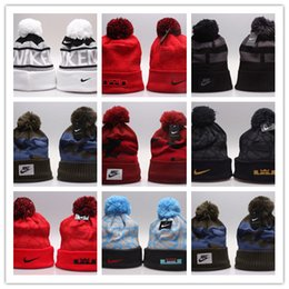 Wholesale Knitting Animal Hats - Good Sale Winter Warm Knitted Hat NY Letters Embroidered Beanie For Unisex Fashion Outdoor Caps Like Skiing Etc.
