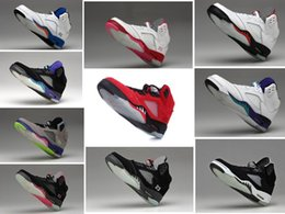 Wholesale Sports Shoes Men Cheap Prices - 5 retro Oreo 5 V men cheap basketball shoes sneakers 2016 red black wholesale price outdoor sports shoes sizes 5.5-13 Michael Sports