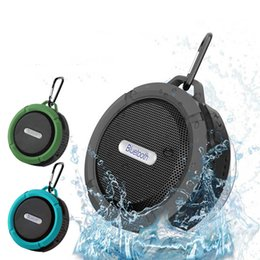 Wholesale X Speakers - C6 Portable Wireless Bluetooth Speaker Outdoor Sports Shower Sucting Computer Mobile Phone Handsfree for iPhone X 8 8P 7 and Samsung S8