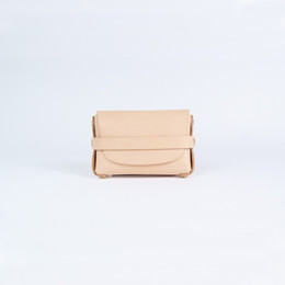 Wholesale Vegetable Tanning - Unisex nature vegetable tan leather wallet ID business card holder coin purse key wallets brass warehard