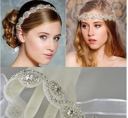 Wholesale Ribbon For Hair Accessories - 2017 Vintage Bridal Crown Tiara Wedding Jewelery Bohemia Hair Accessories Elegant Headpieces Frontlet Hair Band headbands for Bridal