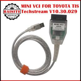 Wholesale Toyota Techstream J2534 - Free Shipping via dhl!!!5pcs lot MINI VCI FOR TOYOTA TIS Techstream V10.30.029 Single Cable MINI VCI-J2534 Diagnostic Tool for toyota