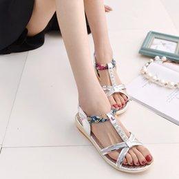 Wholesale Gold Diamond Sandals - hot sell! 2016 summer women diamond sandals women feeling flat peep-toe cool slippers size 35-39