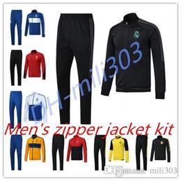 Wholesale Soccer Trainning - Top quality 17 18 Real madrid soccer trainning jacket kit 2017 2018 RONALDO ISCO KROOS BALE MODRIC BENZEMA MORATA Sweat uniform tracksuit