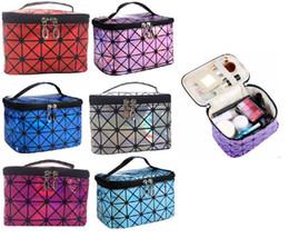 Wholesale Travel Style Korea - Korea Style Large Capacity Cosmetic Bag Makeup Box Waterproof Washing Organizer Travel Collecting Case for Lady Girls