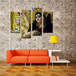 Wholesale Contemporary Wall Decorations - 4 Picture Combination Paintings on Canvas Contemporary Art Abstract Paintings Wall Decorations Paintings For Dancers in India