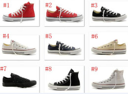 Wholesale Navy Blue Stars - 2017 New big Size 35-45 High top Casual Shoes Low top Style sports stars chuck Classic Canvas Shoe Sneakers Men's Women's Canvas Shoes