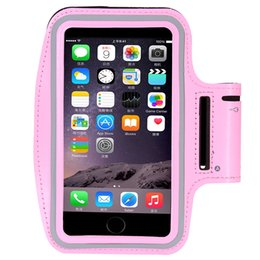 Wholesale Leather Arm Pouch - PVC material arm band pouch belt case workout run sport strap armband waterproof cell phone case for iPhone 6 6s 7 7SPlus