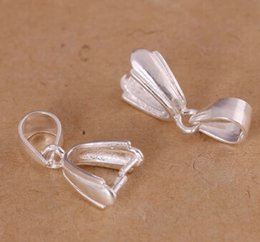 Wholesale Pure Silver Buttons - DIY Button Pendant jewelry accessories hang buckle S925 pure silve silver color