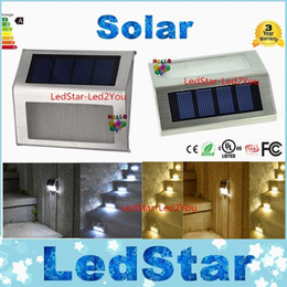 Wholesale Solar Stair Led Light - High Bright 2LED Solar Powered Stainless Steel Outdoor Corridor Pathway Stairs Driveway Flowerbeds Superior Durable white Light Lamp