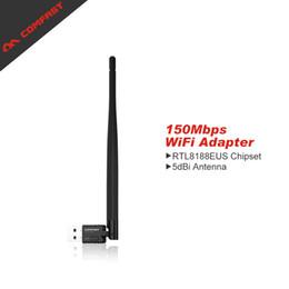 Wholesale 5db Antenna - Wholesale- Comfast CF-WU755P Mini 150Mbps Wifi Adapter 802.11b n g USB Wi-Fi Network LAN Card 5dB wifi antenna adaptador PC Laptop Receiver