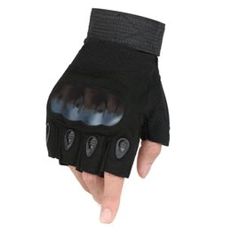 Wholesale Fingerless Opera Gloves Black - 2016 Black Tactical Gloves Wrist Half Finger Driving Climbing Bicycle Sports Glove Adult Fingerless Mittens Z-2409