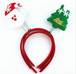 Wholesale Cheap Plastic Decoration - New Promotion Christmas Gifts Toy Christmas Hair Hoop Santa Claus Snowman tree Headband Christmas Decoration Cheap Price JF-234