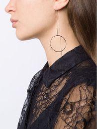 Wholesale metal tassel charms wholesale - Simple Punk Round cilcle Heart Geometric Metal Copper Chain Tassels Ear Jewelry Drop Earrings Vintage Long Chain Earring Wholesale women