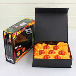 Wholesale Gift Box Animation - Crystal Dragon Balls 7 Pcs 3.5CM Set with Retail Box Animation Cartoon Toys PVC Figure Toy Children Kids Gift Free Shipping