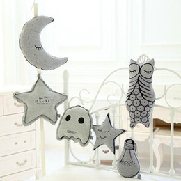 Wholesale Girlfriend Cushion - Wholesale- 1 Pc New Luminous Moon Night Star Bulb Owl Cushion Pillow Kids Toys Popular Soft Stuffed Toys Girlfriend Birthday Gifts