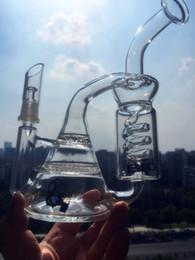 Wholesale Glass Freezer - BIO water glass bongs recycler honeycomb perc two functions glass water pipes has freezer oils glass pipes oil rig bongs hookahs