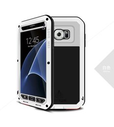 Wholesale love mei powerful - Love Mei Powerful Case for Samsung Galaxy S7 DirtProof ShockProof Anti Fall Metal Aluminum Case Tempered Gorilla Glass Colorful 20PC UP