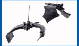 Wholesale Plastic Toy Bat - April Fool's Day Halloween Entire Simulation Toy Bats Pendant Entire Air Defense Simulation Animals Halloween Decorations
