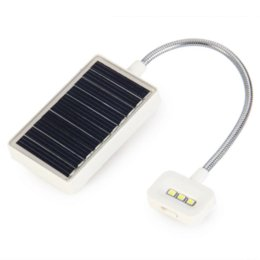Wholesale Solar Book Lights - Modern Multi-use LED Solar Book Light LED Lamp With USB Interfaces For Reading Clip On Book Quality Garanted