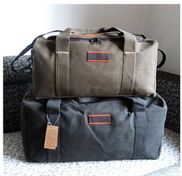 Wholesale Outdoor Large Capacity Bag - 2016 Men Travel Bags Large Capacity Women Luggage Travel Duffle Bags Canvas Outdoor Hiking Sport Folding Bag For Strong Durable