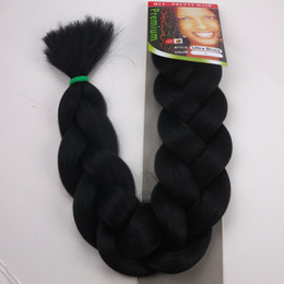 """Wholesale Expressions Hair - Free Shipping XPression Braiding Hair 165G 82"""" Ultra Braid Hair Bulk For Braiding Expression Jumbo Braids Synthetic Hair Extension"""