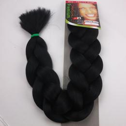 "Wholesale Synthetic Bulk Hair For Braiding - Free Shipping XPression Braiding Hair 165G 82"" Ultra Braid Hair Bulk For Braiding Expression Jumbo Braids Synthetic Hair Extension"