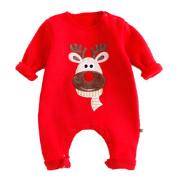 Wholesale Green Babies Organic Clothing - Fashion Jumpsuit Baby Romper Cotton Pajamas Christmas Bodysuit Plaid Crown Striped Pink Red Boy Girl Kid Clothing Outfits Toddler Suit