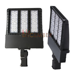 Wholesale Area Lighting Poles - 100W 150W 200W 300W LED Shoebox Pole Light 115LM W Super Bright Outdoor Waterproof Commercial Street Area Lights LED Floodlight AC 90-277V