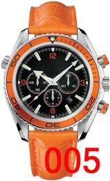Wholesale Luxury Leather Bracelet - Orange Leather Bracelet Mechanical Mens Stainless Steel Automatic Watch Sports mens Self-wind Watches James Bond 007 Skyfall Wristwatch