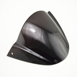Wholesale Double Bubble Windshield - Motorcycle Windscreen Windshield Double Bubble fit for Monster 696 2009-2013 10 11 12 13 Black ABS