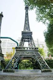 Wholesale 72 Models - Large size 72 cm 3D Paris Eiffel Tower Model bronze metal crafts decoration model Home Furnishing Wedding centerpieces table centerpiece