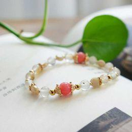 Wholesale Gi Plastics - 2017The New Fashion Elegant temperament Korean edition bracelet fashion agate K gold crystal bracelets string hypoallergenic gift twomen gi