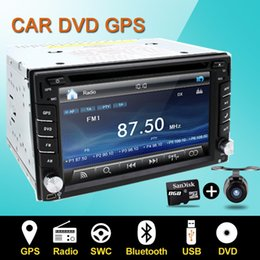 Wholesale Car Auto Stereo Gps - Steering wheel Auto 2din car dvd player Radio GPS PC Video Camera Monitor For VW universal RDS Blutooth digital tv (option) Cam