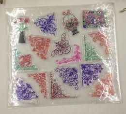 Wholesale Stamping Pvc - New Arrive Flower vine Design Clear Transparent Stamp DIY Scrapbooking Card Making Christmas Decoration