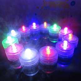 Wholesale Waterproof Led Lights Table Decorations - Submersible Waterproof LED Tea Light Candle Lamp Wedding Floralytes Christmas Valentine Party Vase Table Decor CCA7814 960pcs