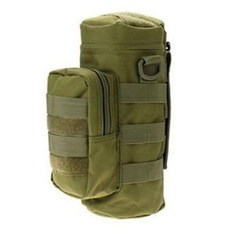 Wholesale Table Bag Holders Wholesale - New Outdoor Climbing Hiking Tactical Gear Military Molle System Water Bottle Bag Kettle Pouch Holder Sport Bags
