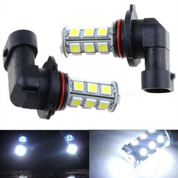 Wholesale Hid Lamps - new arrival!2x 12V HB3 9005 18SMD 5050 LED HID White LED Car DRL Fog Driving HeadLight Bulb Lamp CLT_02Z