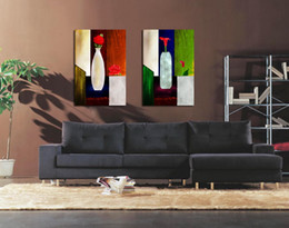 Wholesale More Fine - Modern Fine Abstract Floral Painting On Canvas Hd Giclee Print Reproduction Wall Art Set20005