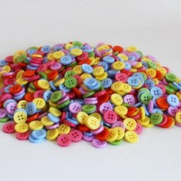 Wholesale Sew Assorted Button - Resin Buttons 1-3CM Mixed Color For Crafts Round Buttons Favorite Findings Basic Assorted Sizes for Sewing Fastener 290G Bag Around