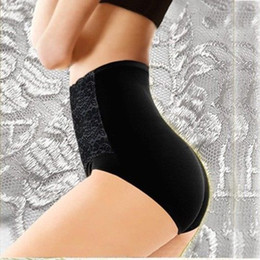 Wholesale Sexy Carry - Wholesale-Women Modal High Waist Sexy Lace Belly in Carry Buttock Briefs Underwear PDH