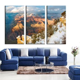 Wholesale Paint Offers - 2016 New Special Offer More Panel Fashion Painting Canvas Chinese Writing Cloth Resim Tuval Natural Landscape 3 Canvas Wall Art Prints On