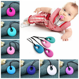 Wholesale Silicone Jewelry Baby - Necklace Baby BPA Free Baby Nursing Jewelry for Mom 100% Food Grade Silicone Teething Pendant Soft Necklace Toys for Chew YYA318