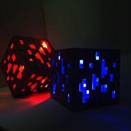 Wholesale Big Kid Night Light - New Minecraft Light Up Led Toys Redstone Ore Square Night light LED Figure Toys Light Up Diamond Ore toys for kids gifts