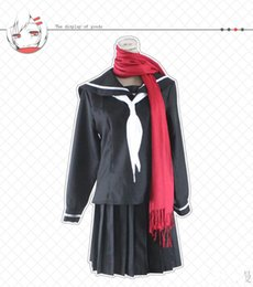Wholesale Top Anime Cosplay Costumes Female - Japanese Anime Kagerou Project Cosplay Tateyama Ayano Costume Female Students Uniform Top + Skirt +Scarf +Socks per set